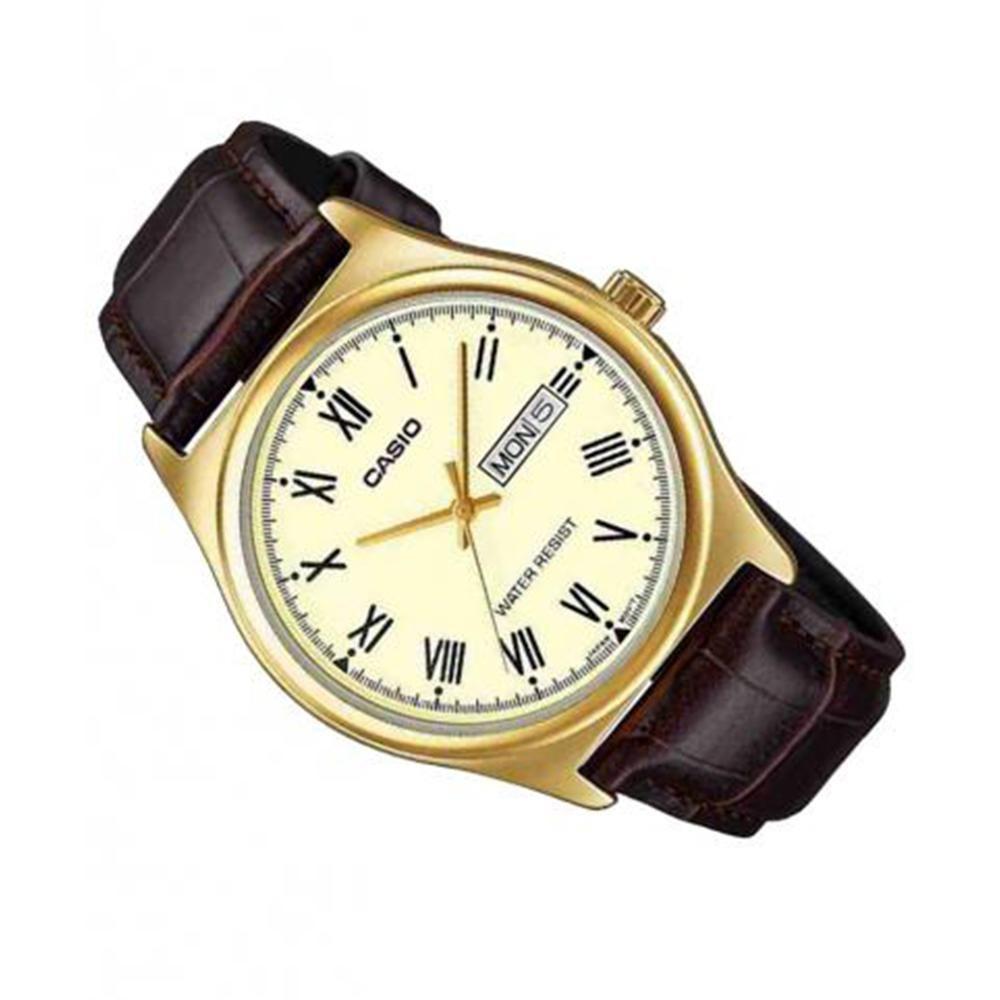 56784314750 Relógio Masculino Analógico Casio MTP-V006GL-9BUDF Marrom Produto não  disponível