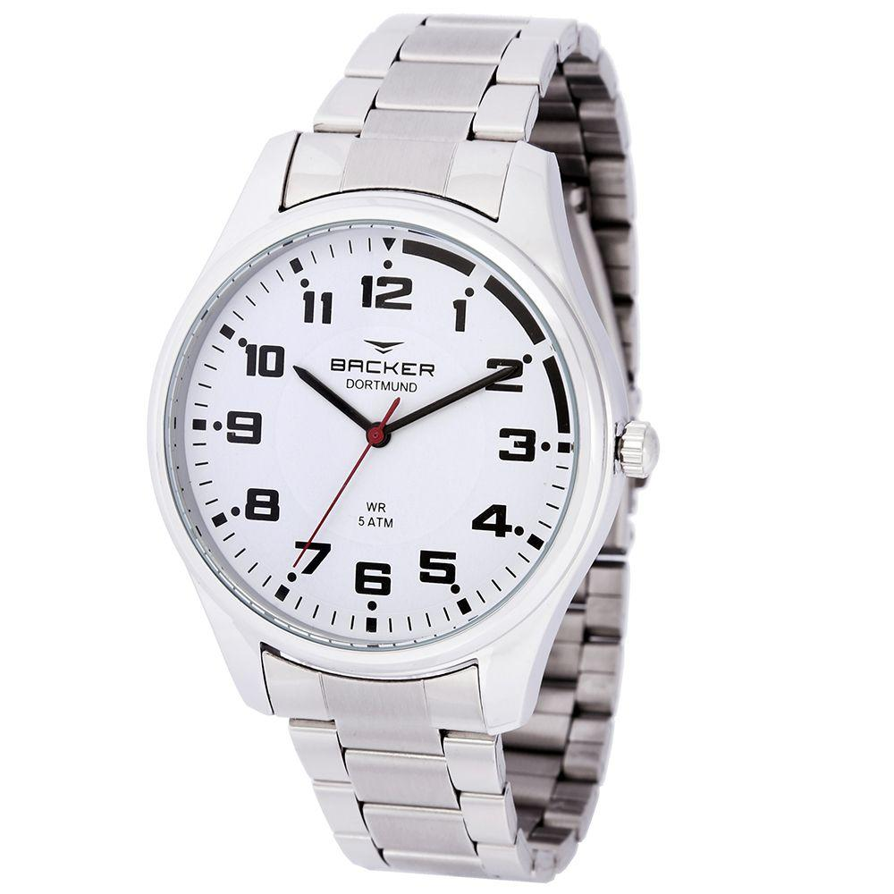 7c58ea45e2a Relógio Masculino Backer Analógico 6475123M - Prata - Relógio ...