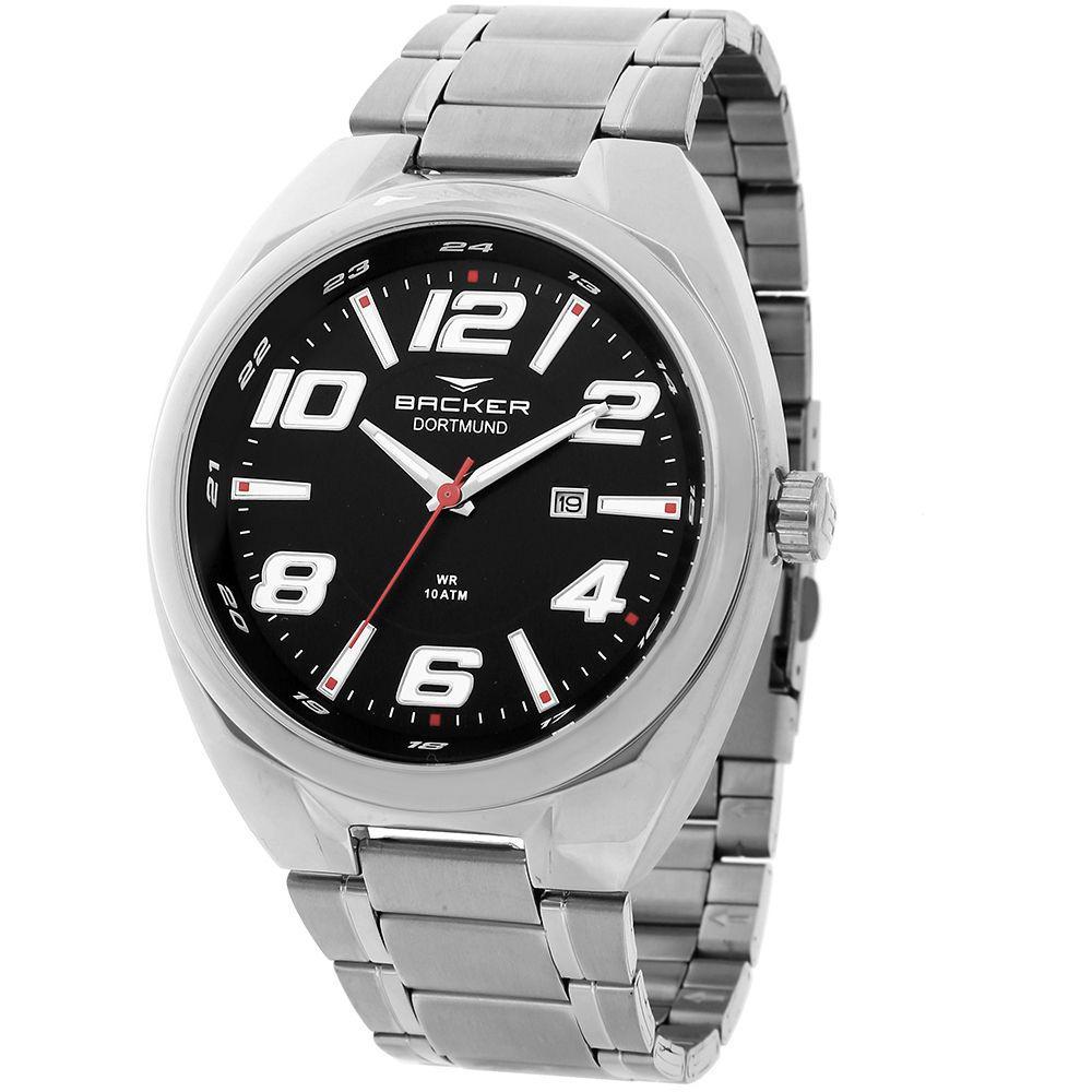 ff61e4aca5b Relógio Masculino Backer Analógico 6491253M - Prata - Relógio ...