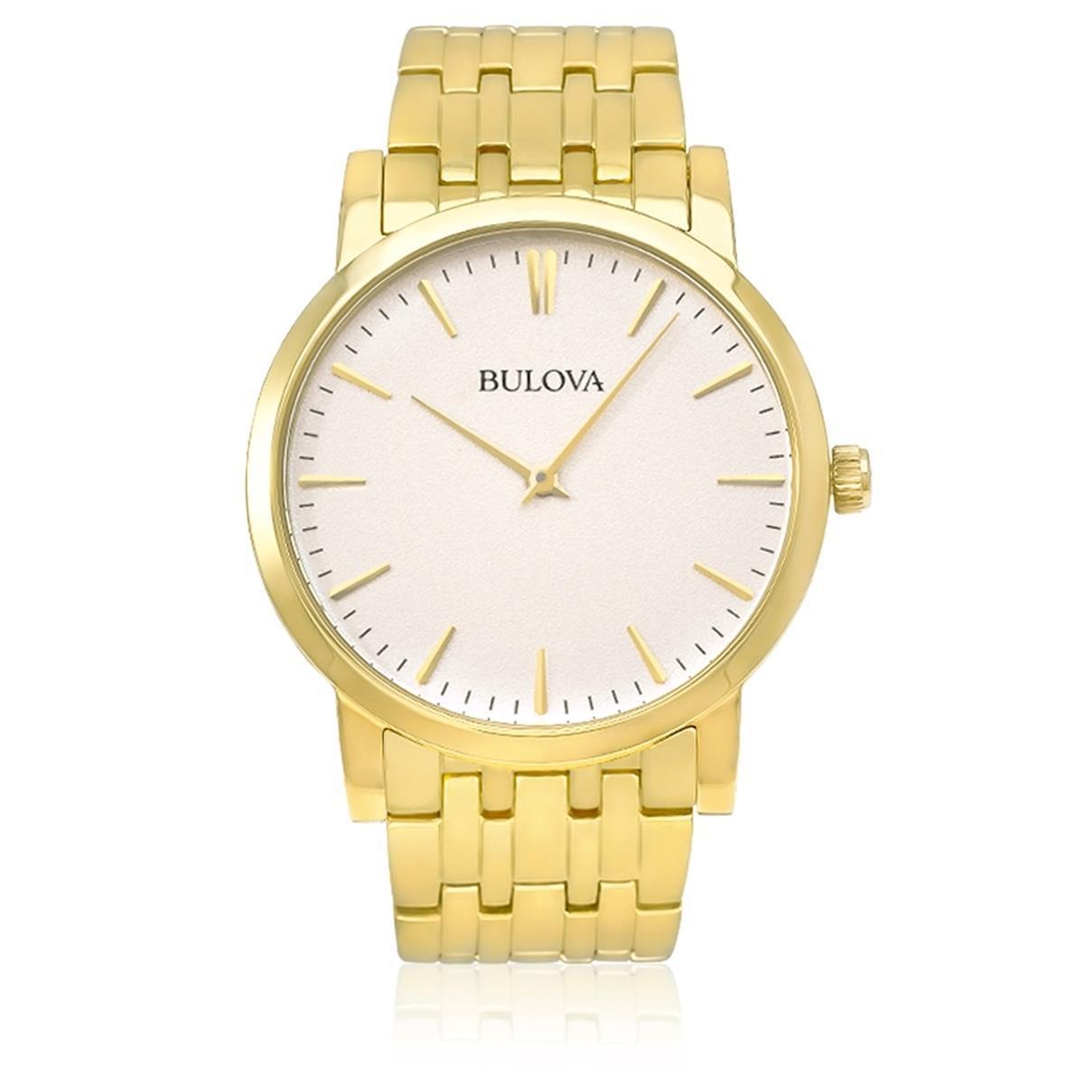 8460f78c846 Relógio Masculino Bulova Analógico WB21669H Aço Dourado R  780