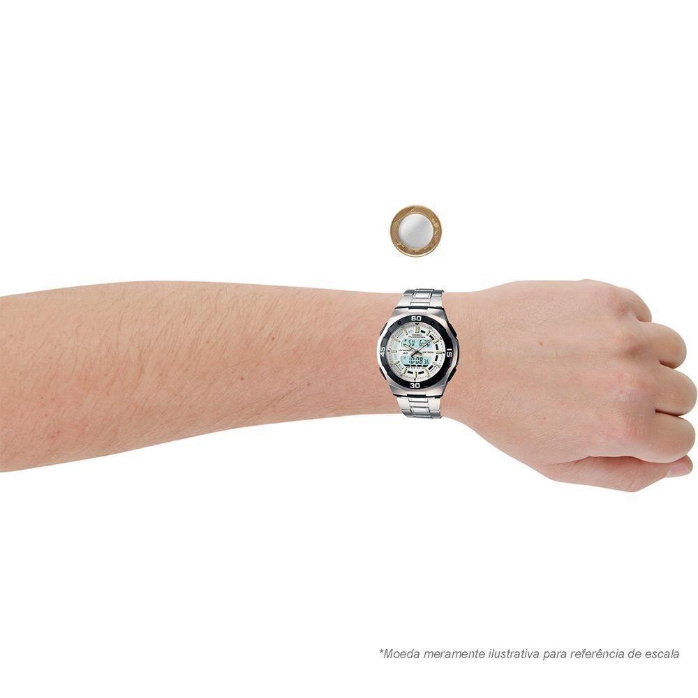 5892bb06f13 Relógio Masculino Casio Anadigi AQ-164WD-1AVDF - Prata Produto não  disponível