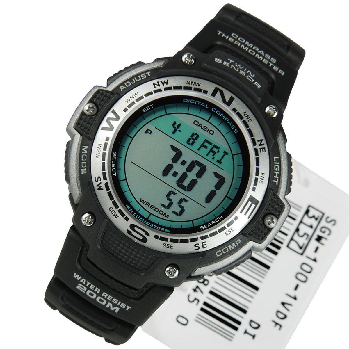 928bf0173fb Relogio Masculino Casio Analogico digital Sgw-100-1vdf - Preto Produto não  disponível