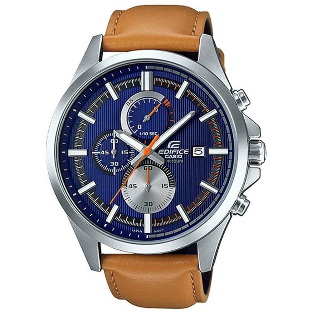 6ac150a359b Relógio Masculino Casio Edifice Cronógrafo Analógico Pulseira De Couro EFV -520L-2A