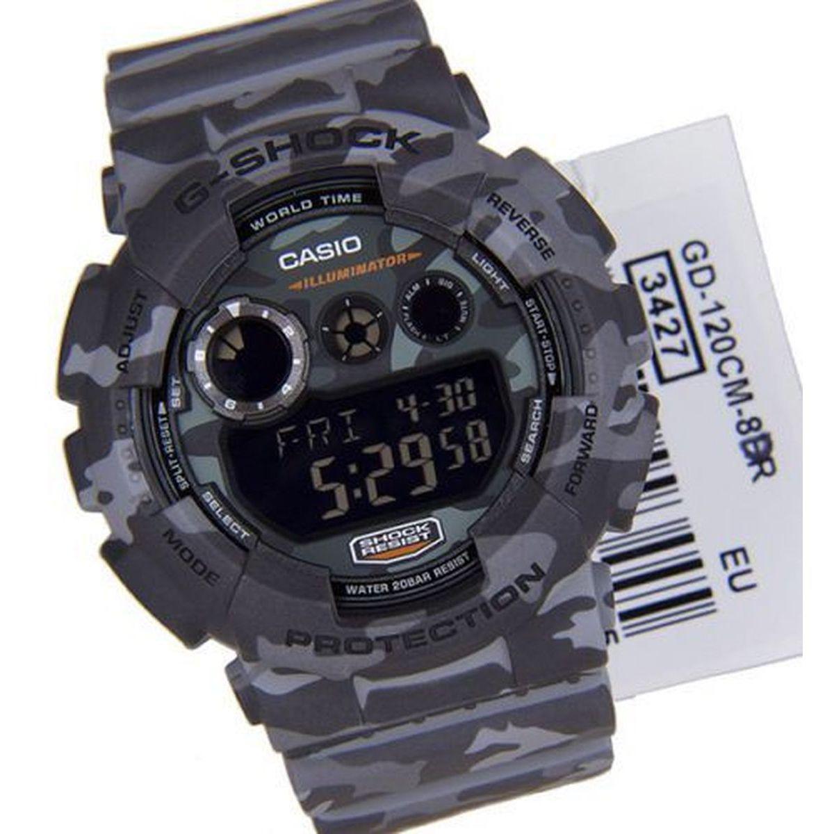 64e3d91ec4e Relogio Masculino Casio G-shock Anadigi Gd-120cm-8dr - Camuflado R  649