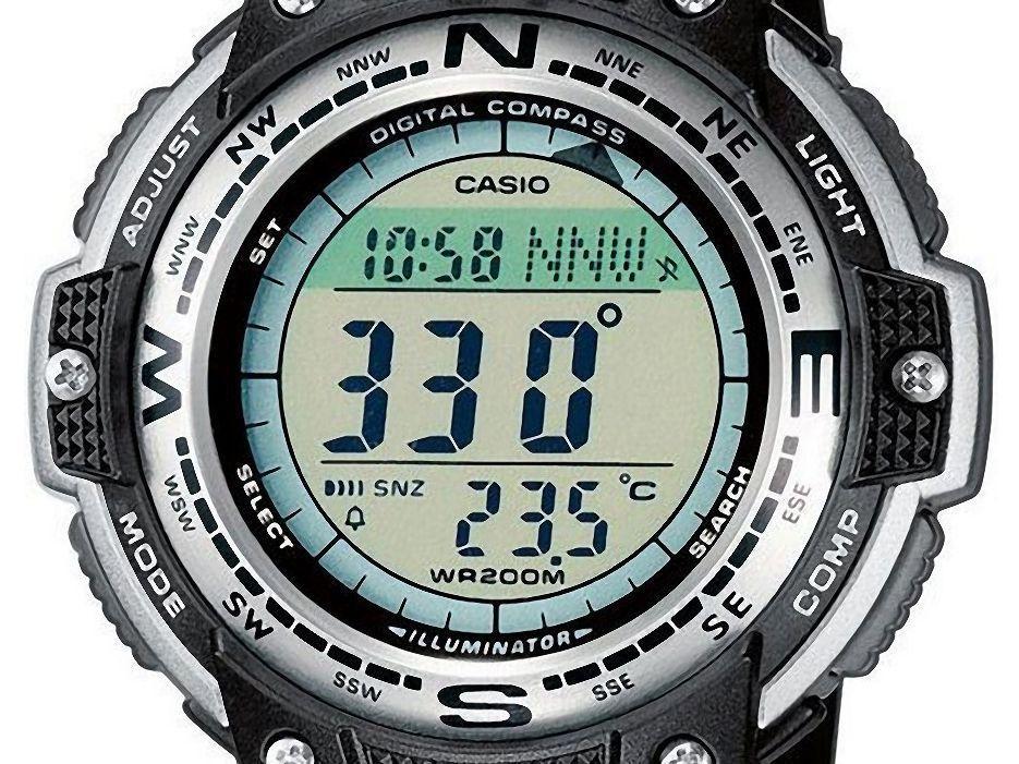 754d536fab1 Relógio Masculino Casio SGW-100-1VDF Digital - Resistente à Arranhões com  Cronógrafo e Bússola R  431