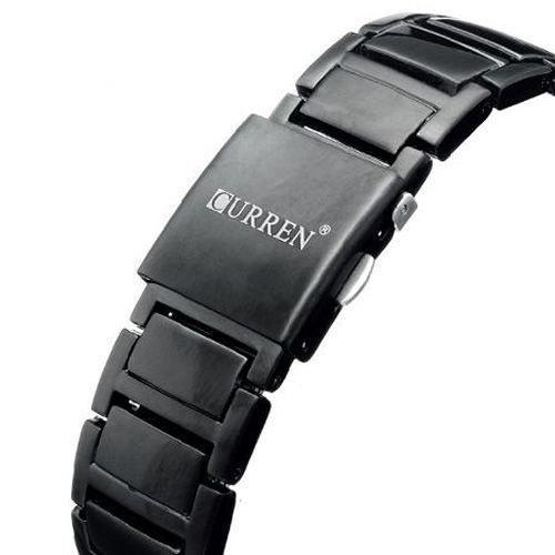 3b1ae8921f7 Relógio Masculino Curren Analógico 8111 Preto e Azul - Relógio ...