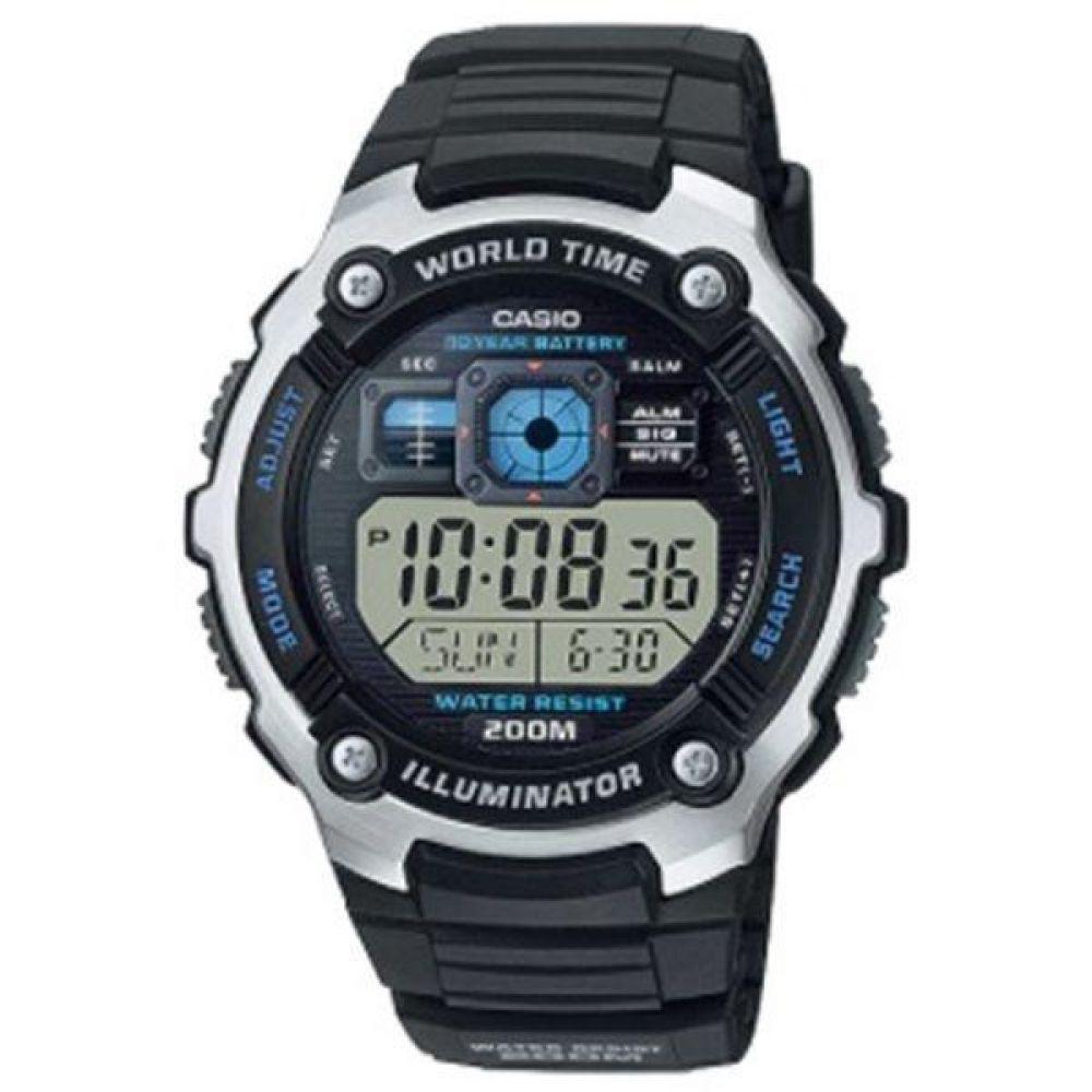 ecba26cba68 Relógio Masculino Digital Preto com Prata -Casio - Relógio Masculino ...