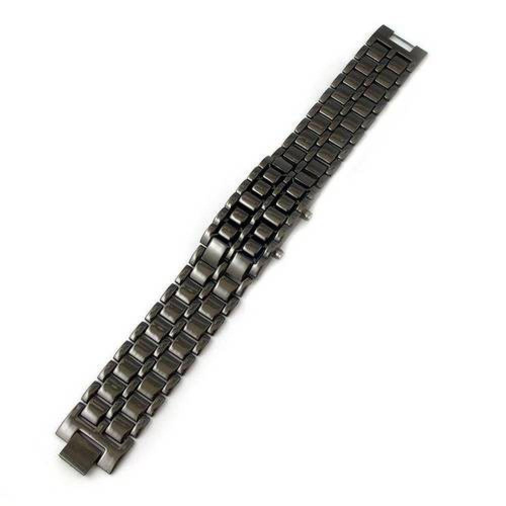 63760499874 Relógio Masculino Led Iron Samurai Pulseira Aço Inoxidável - Outras marcas  Produto não disponível