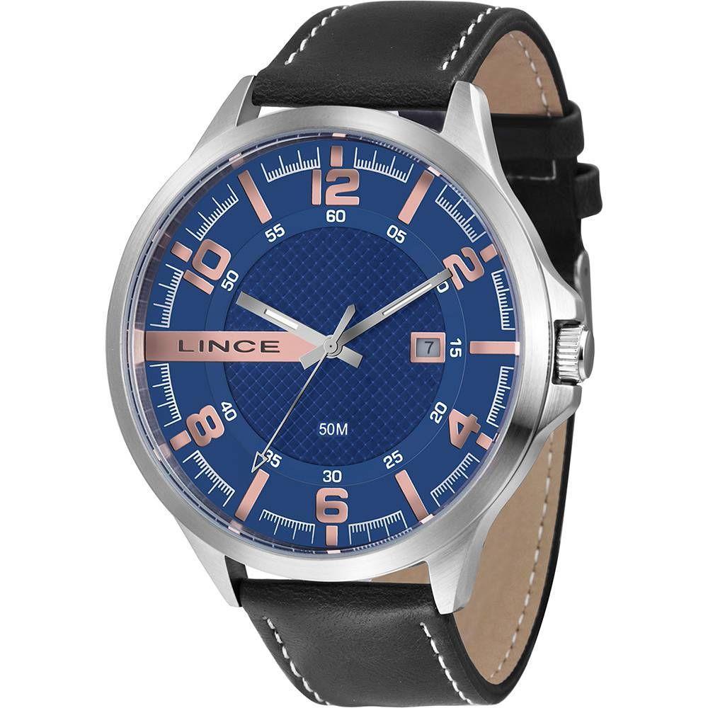 d7b44d14d8f Relógio Masculino Lince Analógico Mrc4351s D2pb - Prata Preto Produto não  disponível