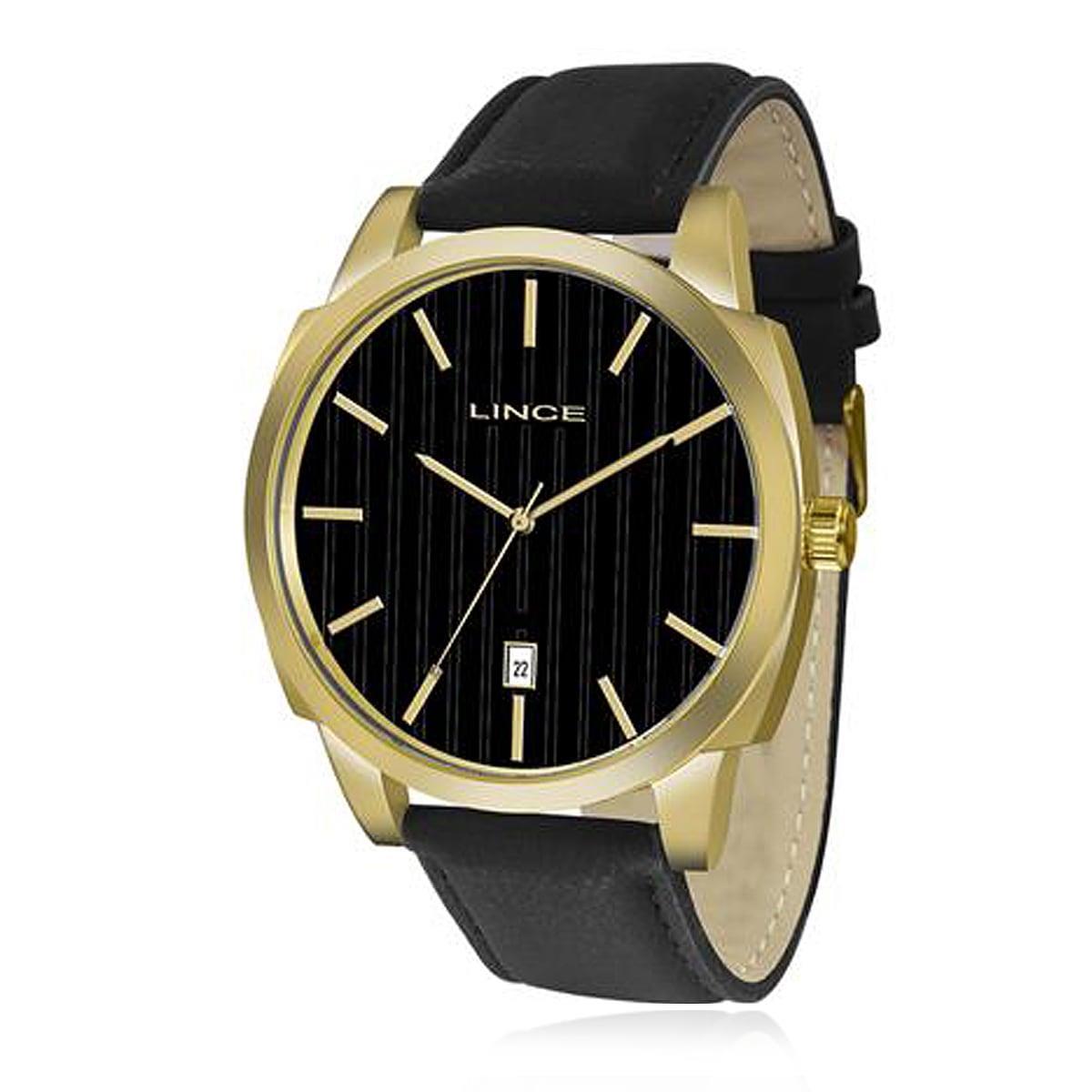 ff4c716899b Relógio Masculino Lince Analógico MRC4462S P1PX Couro Preto Produto não  disponível