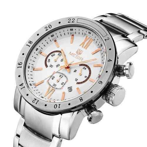 31bdb3048f3 Relógio Masculino Megir 3008 Esporte Fino Casual - Relógio Masculino ...