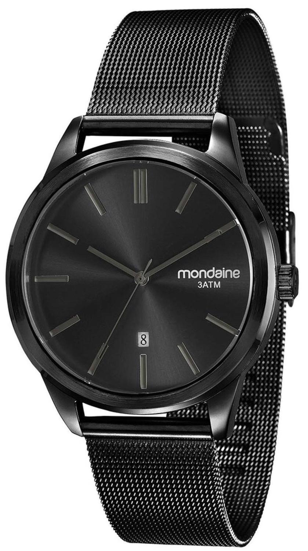 43de054e052 Relógio Masculino Mondaine 83365GPMVPS1 42mm Pulseira Aço Preto Produto não  disponível