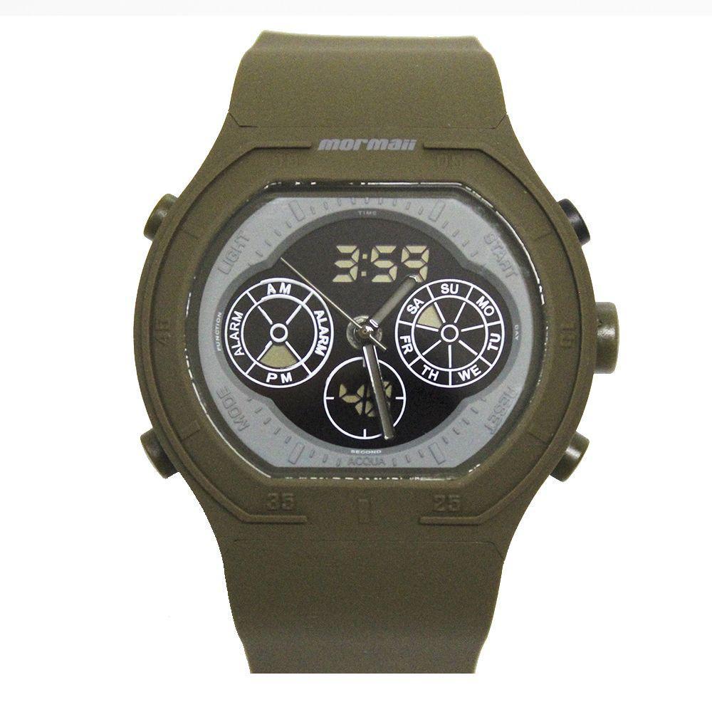 1de998715ef Relógio Masculino Mormaii Mo160332al 8v Verde Militar - Relógio ...