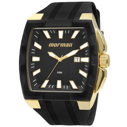 3ce5e81fe26d8 Relógio Masculino Mormaii MO2115AD 8P Dourado Pulseira Borracha Produto não  disponível