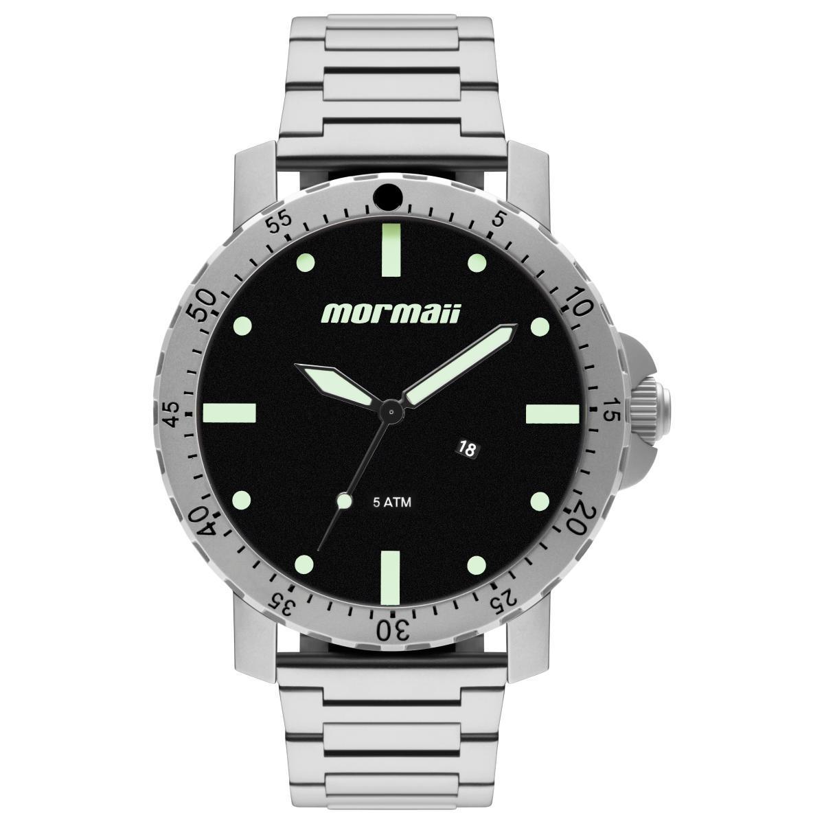 de5793a9463 Relógio Masculino Mormaii MO2115BG 1P 53mm Aço Prata - Relógio ...