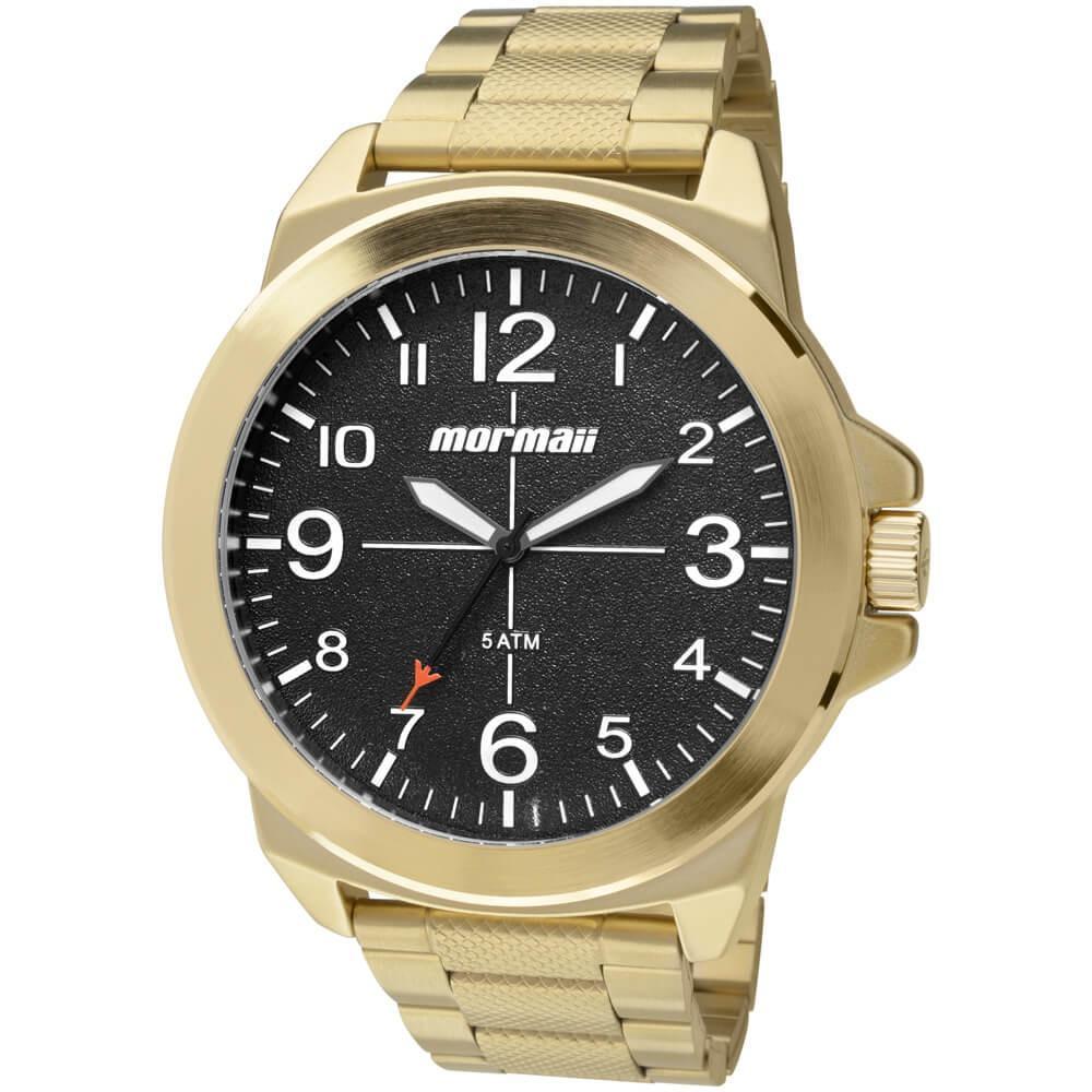 f691beaaf961e Relógio Masculino Mormaii On The Road MO2035DV 4P 50mm Dourado Produto não  disponível