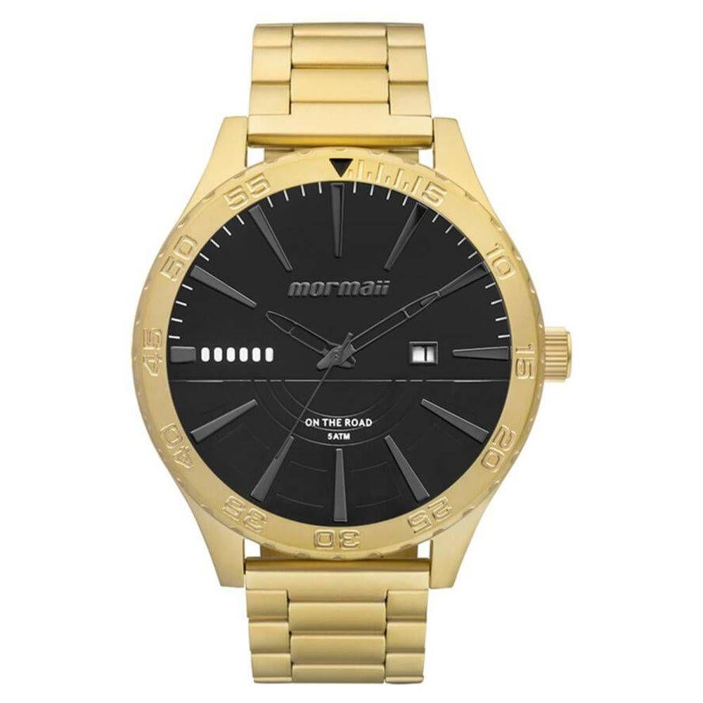 e99f5e129cdcb Relógio Masculino Mormaii On The Road MO2115AY 4P Dourado Produto não  disponível
