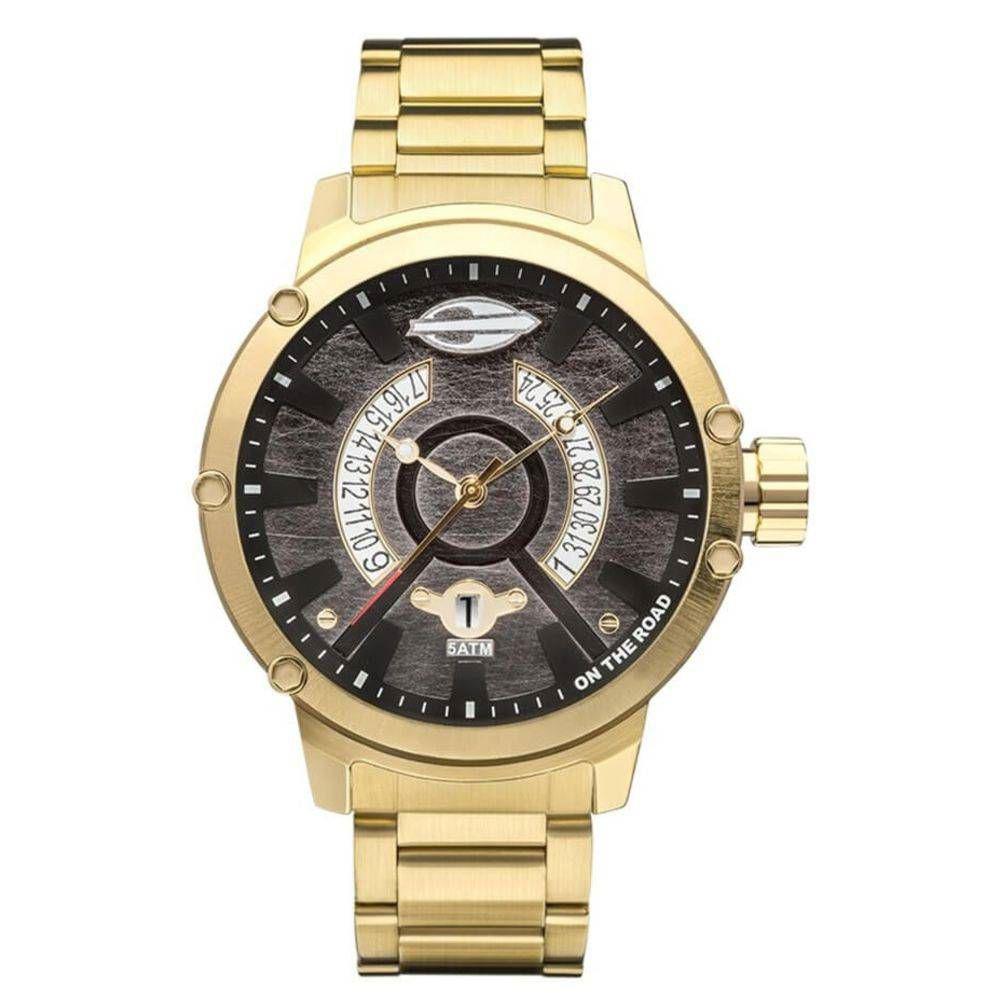 64e8634c3834b Relógio Masculino Mormaii On The Road MO2315AAT 4D Dourado Produto não  disponível