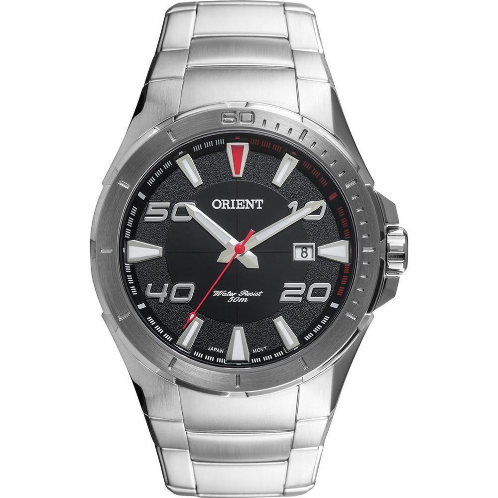 52f5762e2b3 Relógio Masculino Orient Analógico Esportivo MBSS1252 P2SX - Prata Produto  não disponível