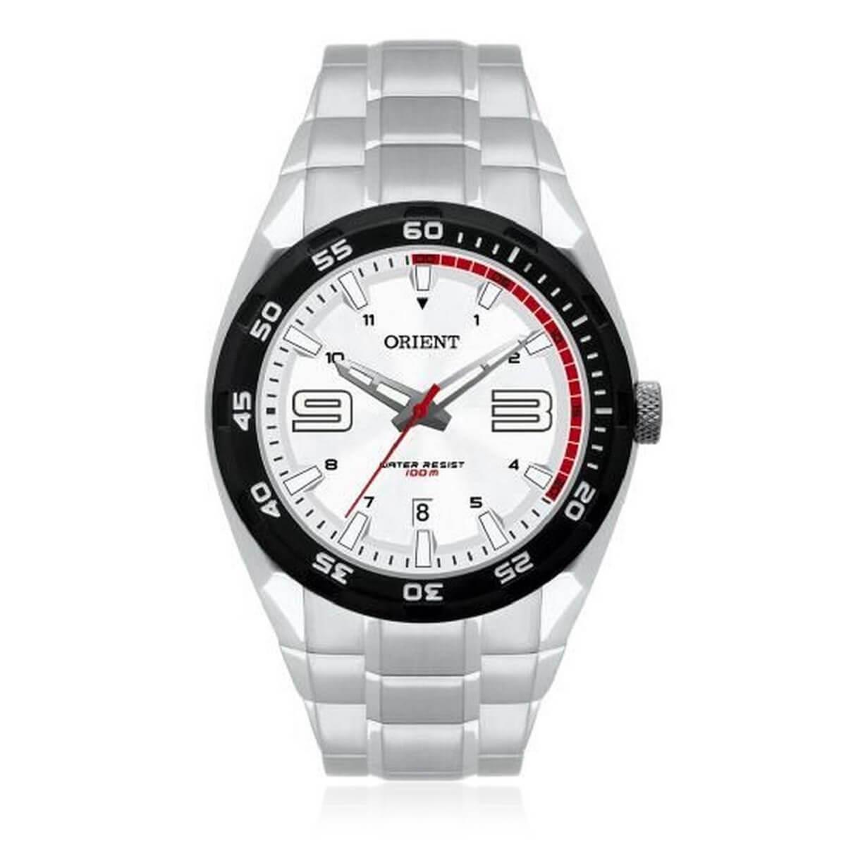 ca9ee27fa6f Relógio Masculino Orient Analógico MBSS1185 SVSX Aço fundo Branco Produto  não disponível