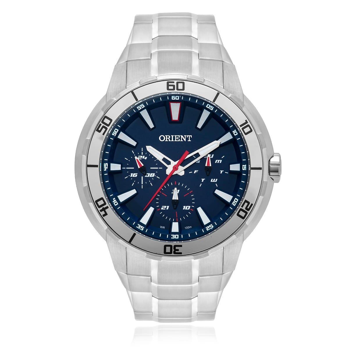 df4e5939b91 Relógio Masculino Orient Analógico MBSSM077 D1SX Fundo Azul ...