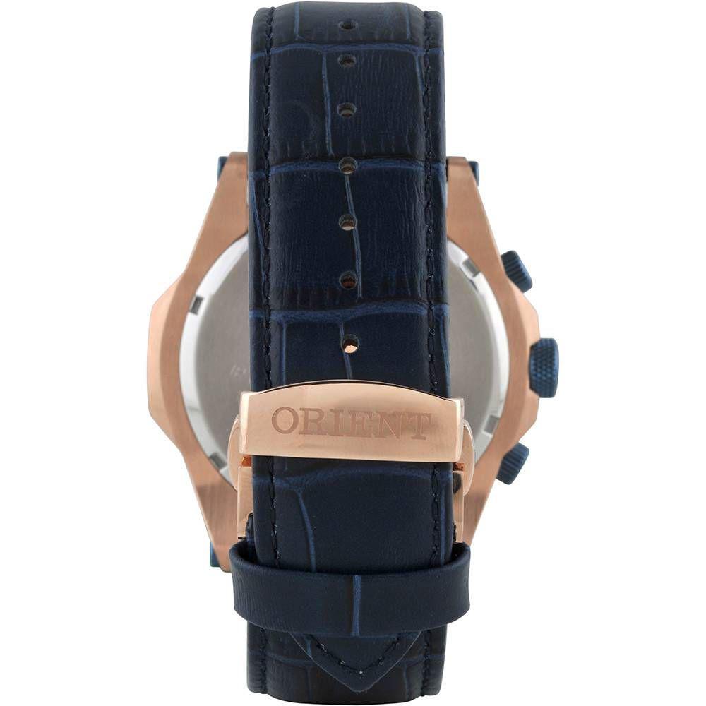 b2f709ae53275 Relógio Masculino Orient Analógico MRSCC011 D2DX -Rosê Azul R  1.122
