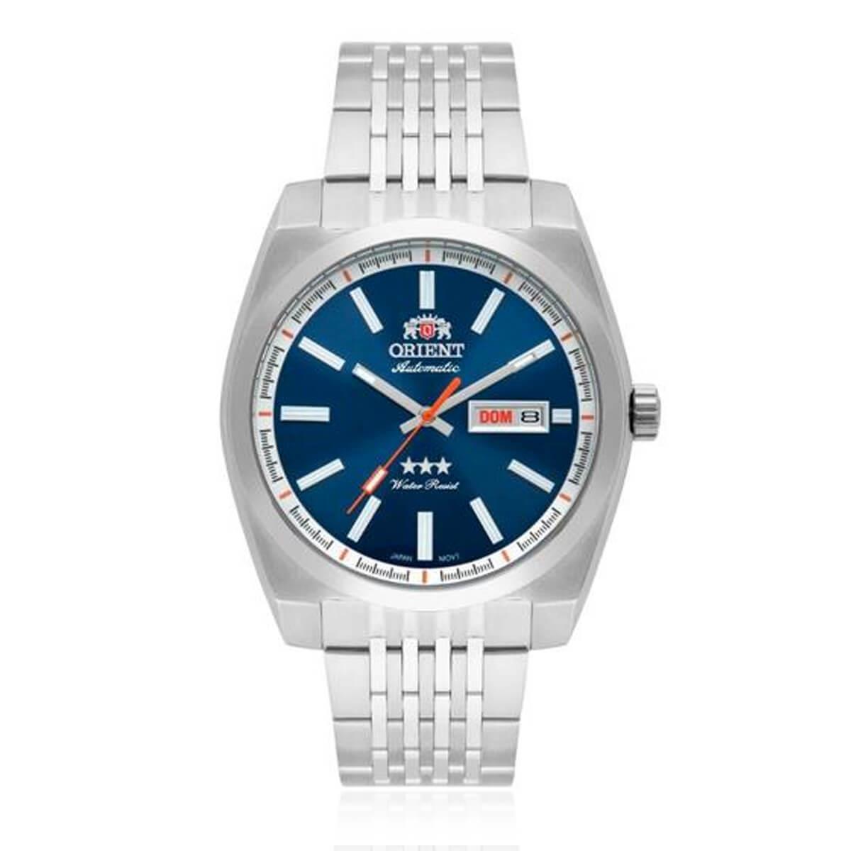 c08c0b0715c Relógio Masculino Orient Automatic Analógico 469SS070 D1SX Fundo Azul R   490