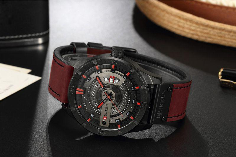 a6c36cbac7e Relógio Masculino Original Curren Pulseira Couro Cronógrafo R  149