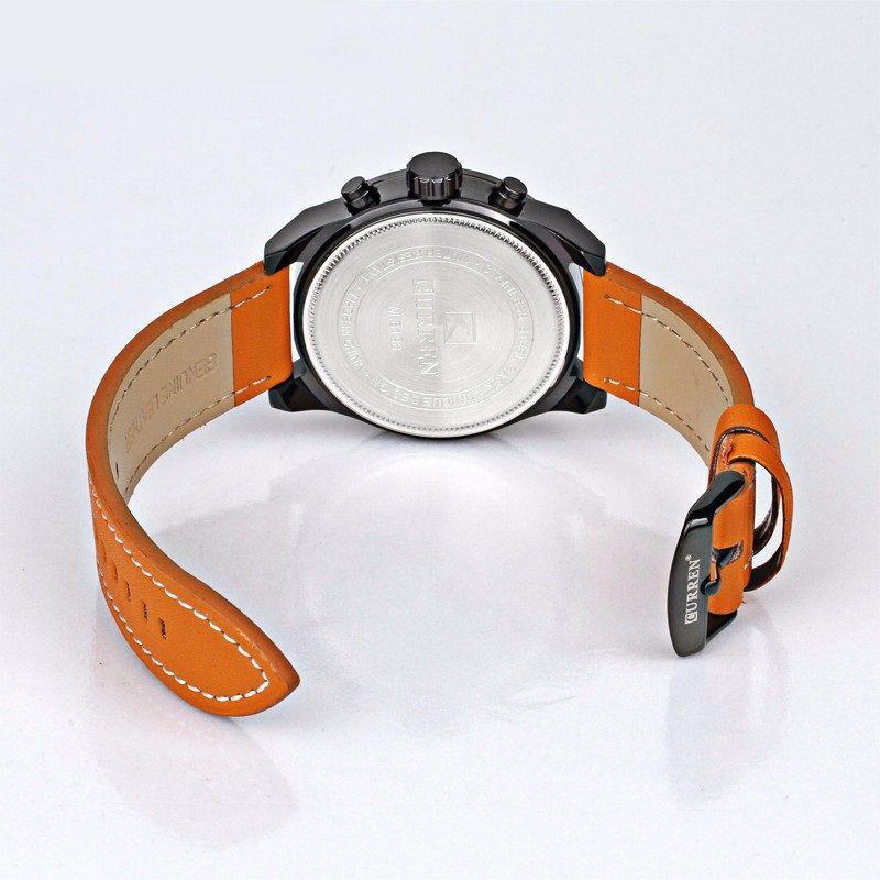 d47a00cec20 Relógio Masculino Original Curren Pulseira Couro Função Data R  149