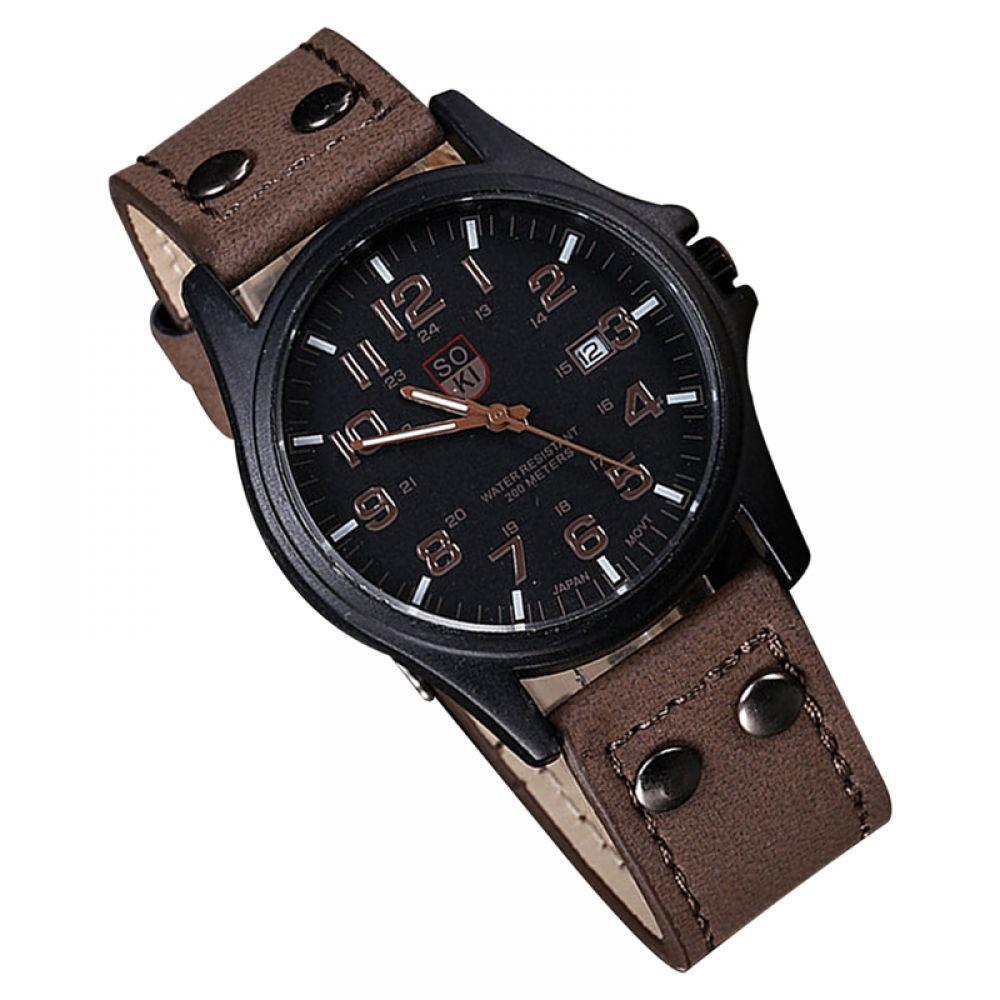 fbef556c559 Relógio Masculino Pulso Soki Leisure Series Analógico Marrom Produto não  disponível