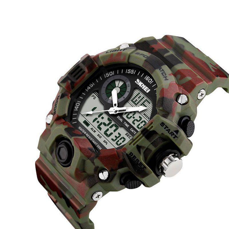 f1ac6910a33 Relógio Masculino Skmei Anadigi 1053 Camuflado - Relógio Analógico e ...
