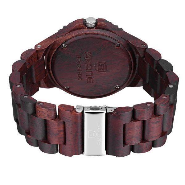 71e16c130d1 Relógio Masculino Skone Analógico Madeira 7397BR Marrom Escuro Produto não  disponível