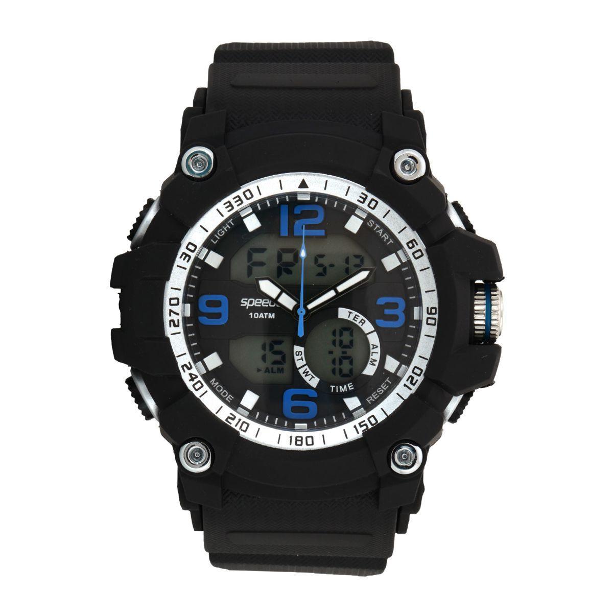 e1f086c5492 Relógio Masculino Speedo 81129G0EVNP4 Preto Prata - Relógio ...