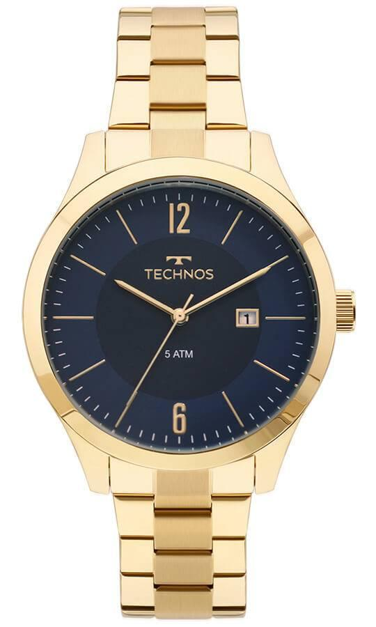 a568a2d9eb3 Relógio Masculino Technos 2115MOS 4A 43mm Aço Dourado - Relógio ...