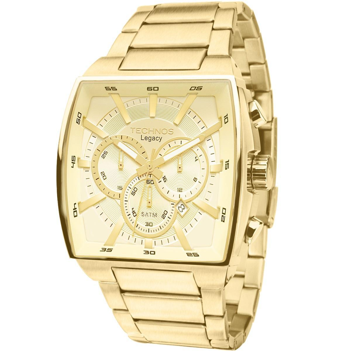 89e1b907326 Relógio Masculino Technos Classic Legacy JS25AL 4X 45mm Dourado Produto não  disponível