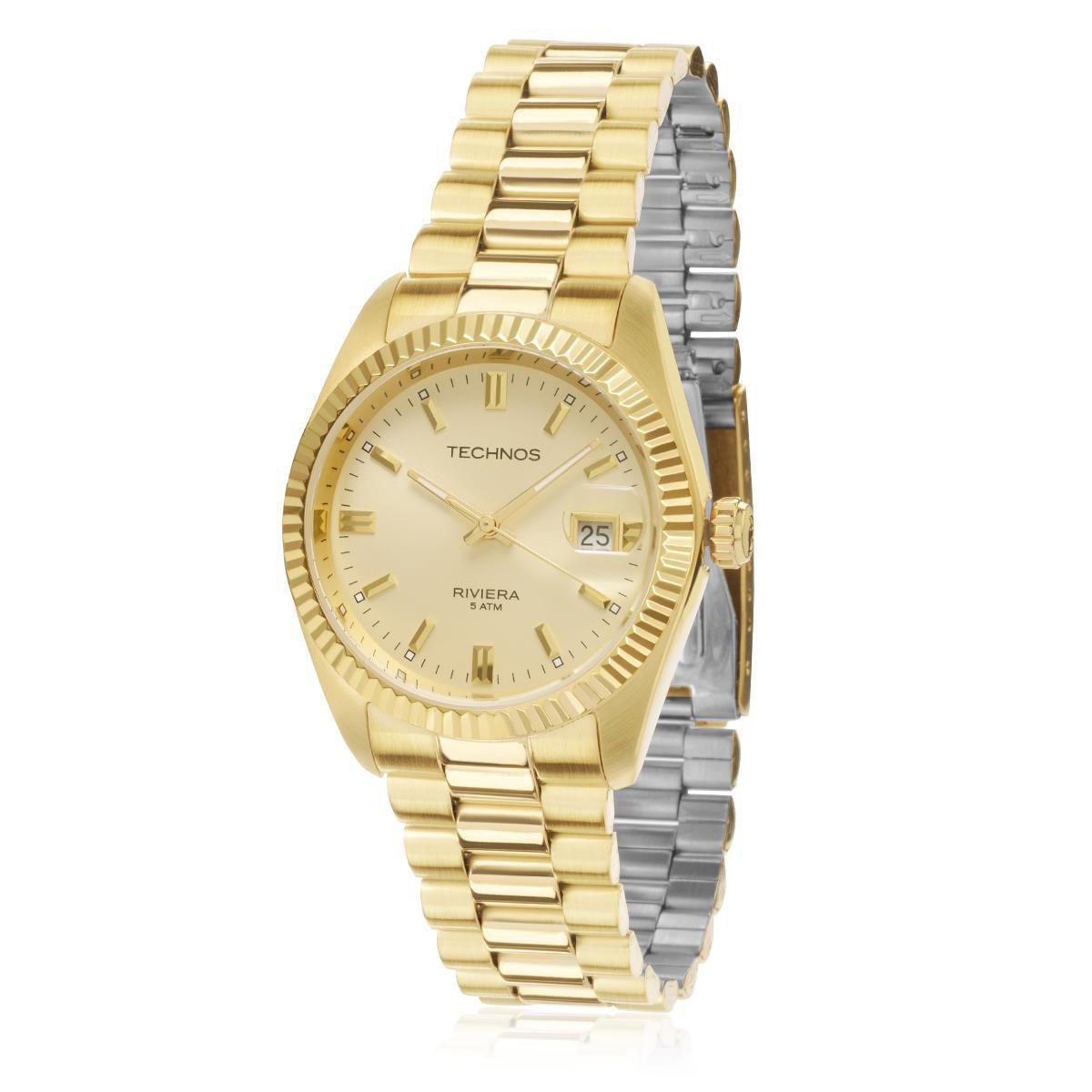874aae7f4438b Relógio Masculino Technos Riviera 2115EF 4X Dourado - Relógio ...