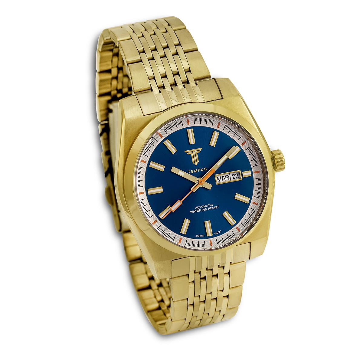 90e50cbf49e Relógio Masculino Tempus Yacht ZW30312A Gold Blue - Relógio ...