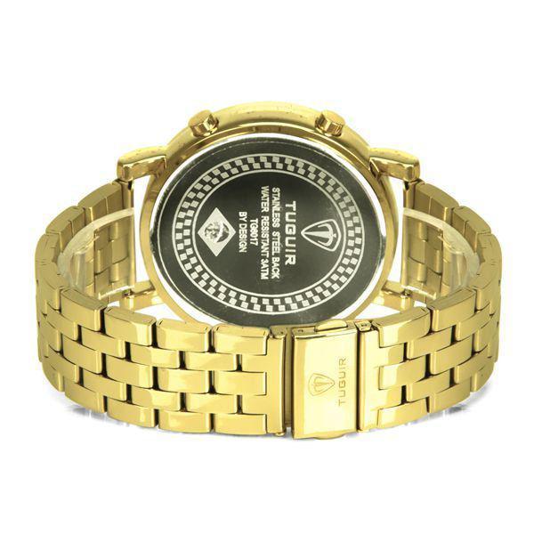 1ee1456b484 Relógio Masculino Tuguir Metal Digital TG6017 Dourado Produto não disponível