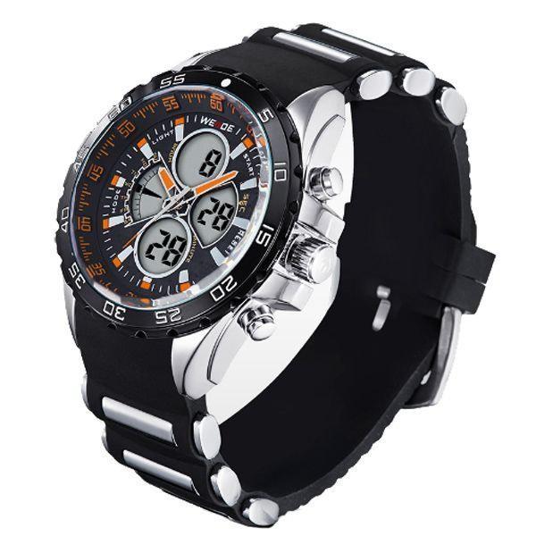 0eddc81c185 Relógio Masculino Weide Anadigi WH-1103 PT-LR - Relógio Masculino ...