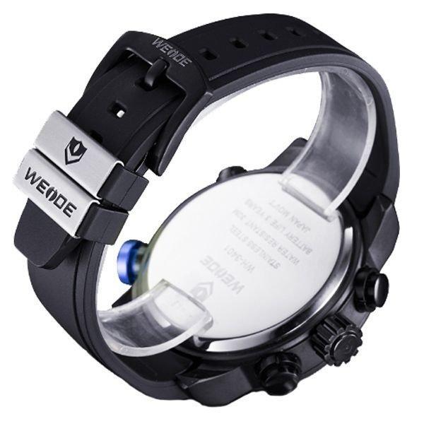 4ed9a46676a Relógio Masculino Weide Anadigi WH-3401 Preto e Azul - Relógio ...