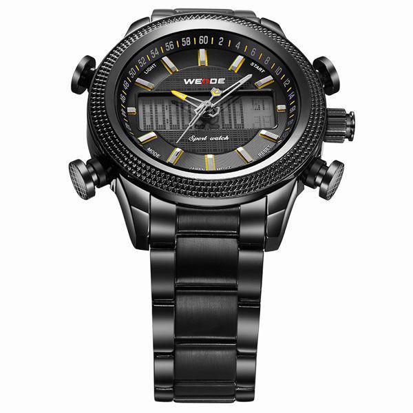 2ea15d9d7b5 Relógio Masculino Weide Anadigi WH-3406 - Preto e Amarelo - Relógio ...
