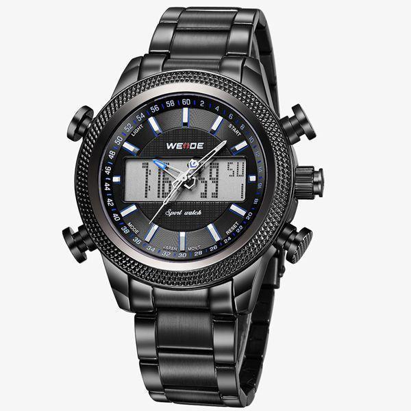 caf7cac1332 Relógio Masculino Weide Anadigi WH-3406 - Preto e AZul - Relógio ...