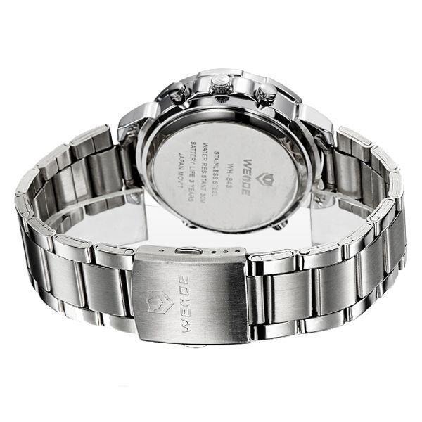 d7eb6d5cff Relógio Masculino Weide Anadigi WH-843 Prata e Branco - Relógio ...