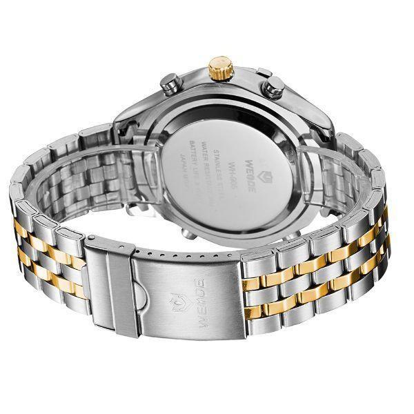 533ef21eaed Relógio Masculino Weide Anadigi WH-905 Prata e Dourado - Relógio ...