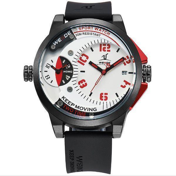 0608851d9 Relógio Masculino Weide Analógico UV-1501 Preto e Vermelho - Relógio ...