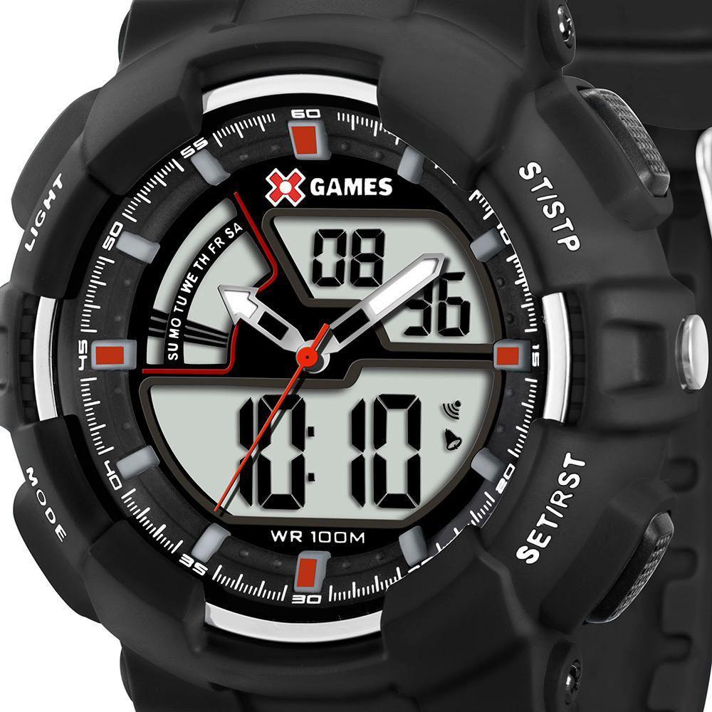 f701d06cd4c Relógio Masculino X Games Anadigi Preto XMPPA139 BVPX - Xgames Produto não  disponível