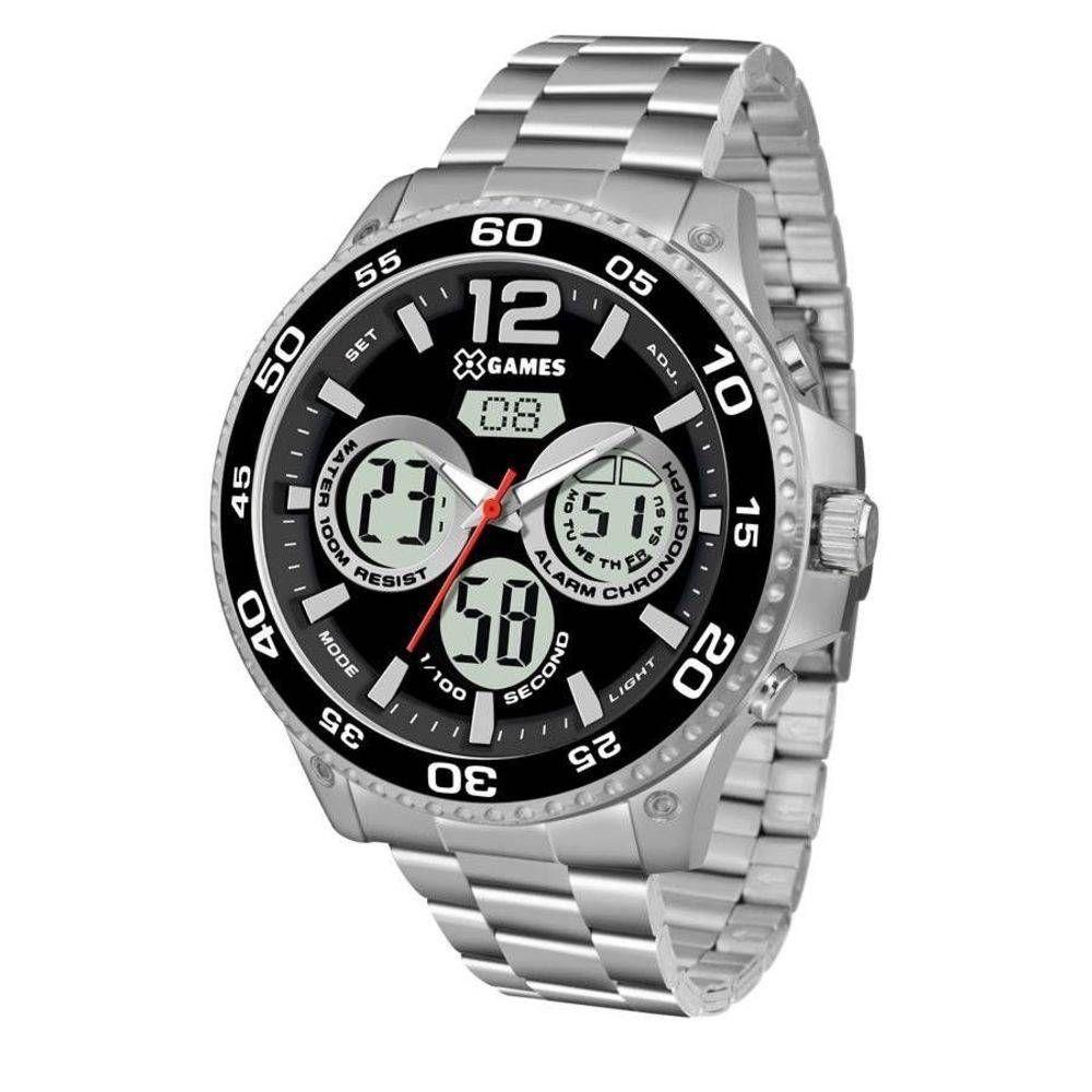 Relógio Masculino X-Games Anadigi XMSSA006 P2SX - Prata - Xgames Produto  não disponível b22c8eed14