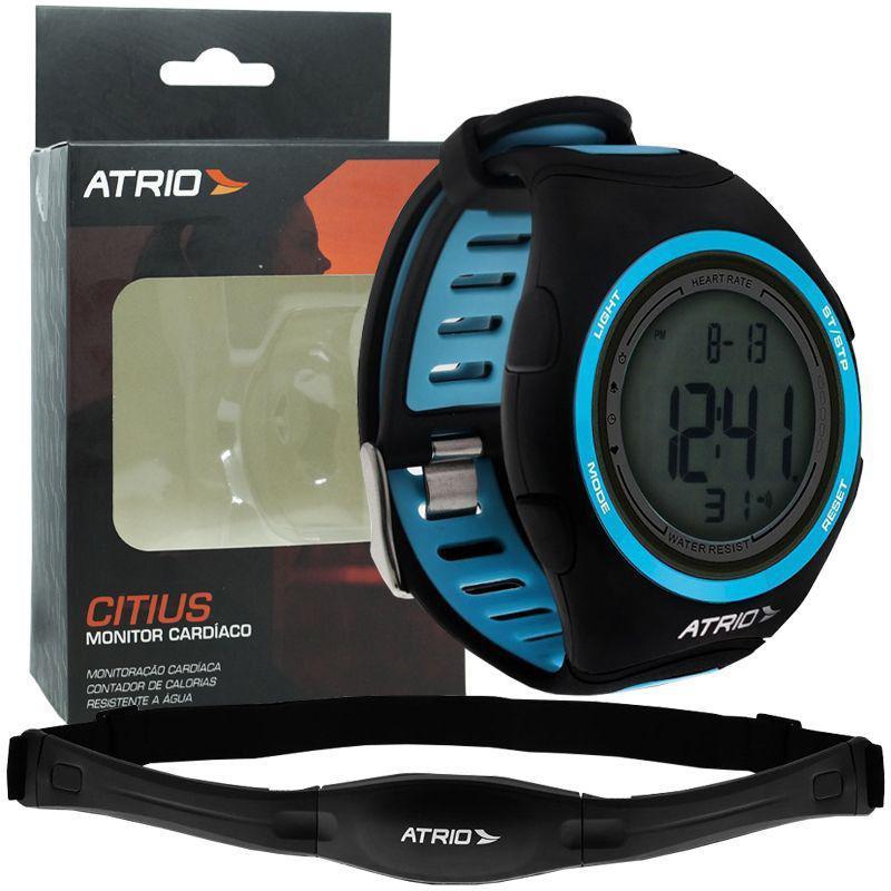 21dff0f22c0 Relógio Monitor Cardíaco de Pulso com Cinta Fita Atrio Citius  Frequencimetro Batimento ES050 R  158