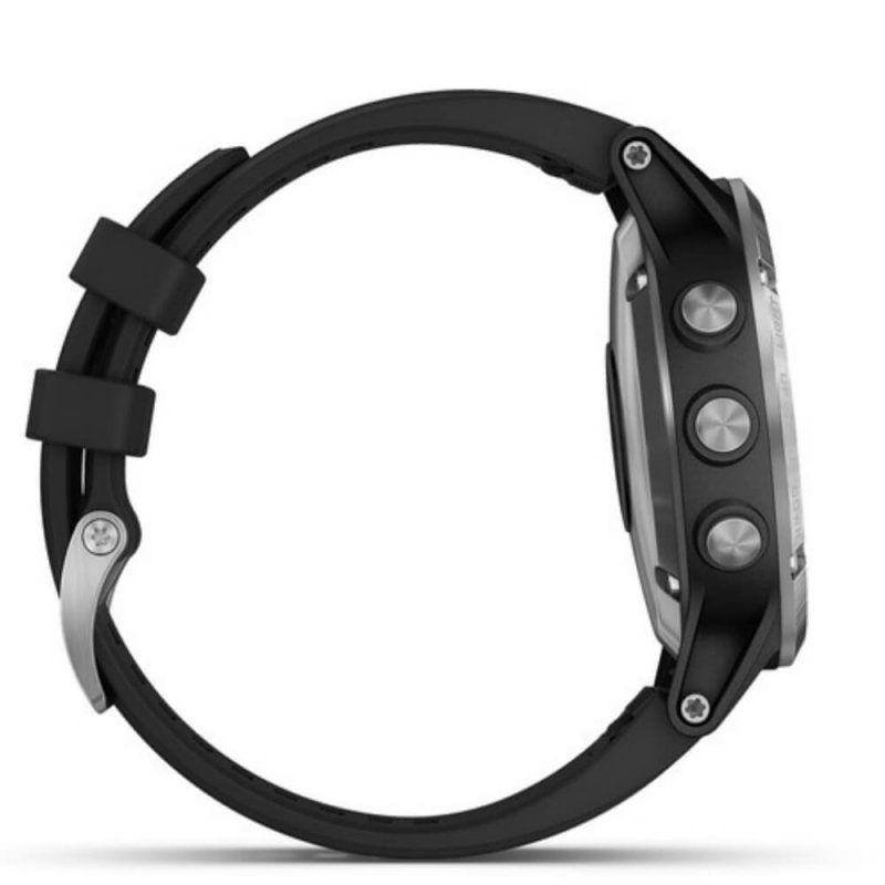 65cfe40ea58 Relógio Multiesportivo Garmin Fenix 5 Plus Safira Preto e Prata com Monitor  Cardíaco no Pulso R  3.999