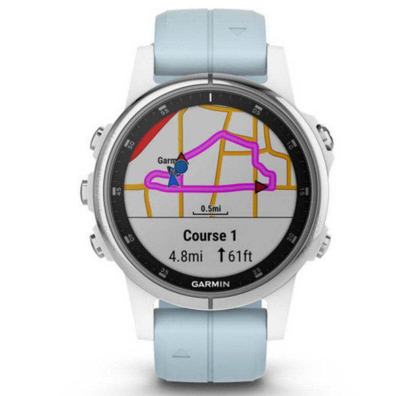 d9d7aec5348 Relógio Multiesportivo Garmin Fenix 5S Plus Verde com Monitor Cardíaco no  Pulso R  4.498